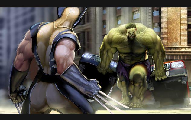 x-man vs hulk