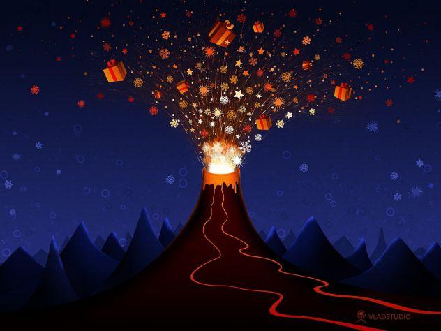 Božićni vulkan